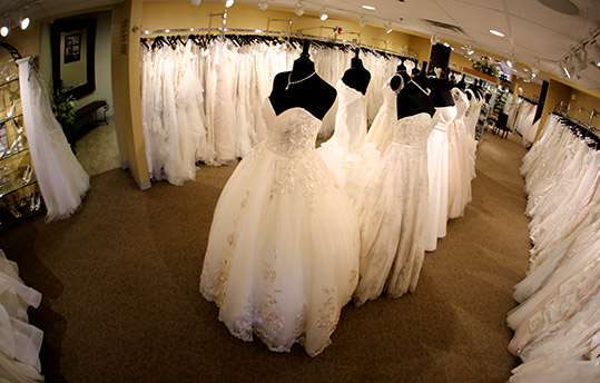 Large Wedding Dress Selection, Pittsburgh