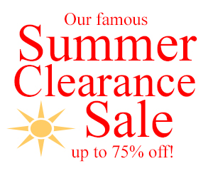 Summer Clearance Sale Up to 75% off