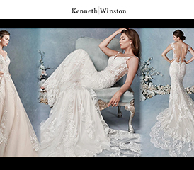 Image of three brides wearing a  Kenneth Winston dress