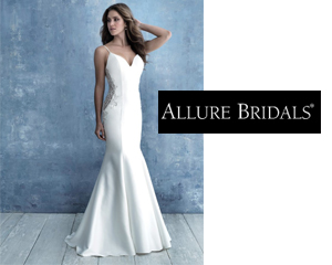 Women wearing Allure wedding dress style 9731