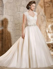 In Stock Wedding Dress 90129 Plus Size