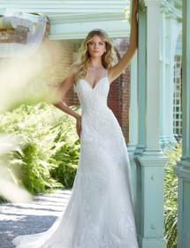 This style is in Plus Size in our store for you to try on! Women modeling MB Bride SKU 73711