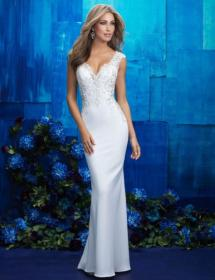 This style is in Plus Size in our store for you to try on! Women modeling MB Bride SKU 74283